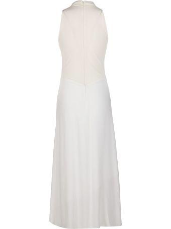 SSHEENA White Viscose Dress