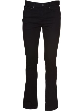 Givenchy Straight Leg Black Jeans In Black