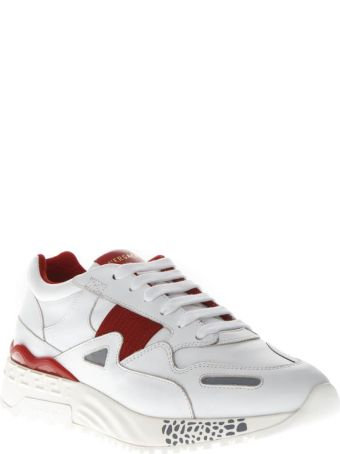 """Versus Versace """"achilles"""" Red & White Leather Sneakers"""