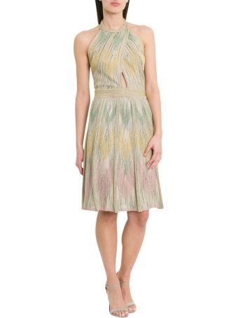 M Missoni Lurex Knit Short Dress