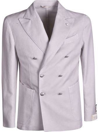 Luigi Bianchi Mantova Double Breasted Button Blazer