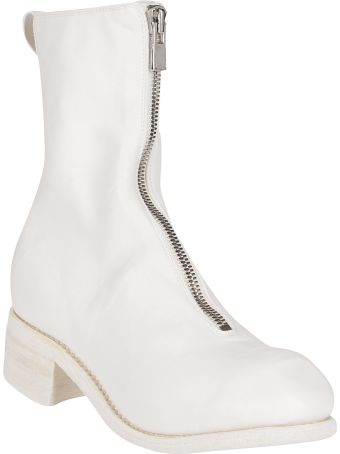 Guidi White Horse Leather Boots
