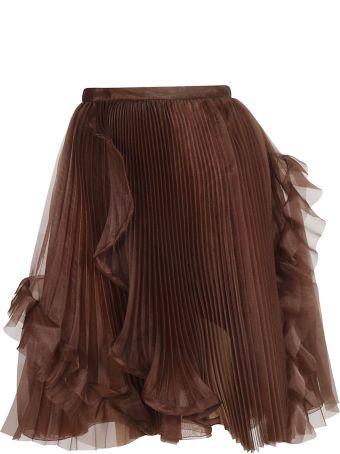 Ermanno Scervino Pleated Organza Skirt