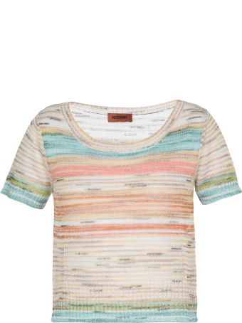 Missoni Knitted Sheer T Shirt