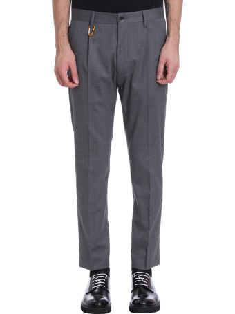 Low Brand Grey Wool Pants