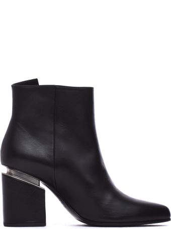 Vic Matié Heeled Ankle Boots With Maxi Zip And Suspended Heel
