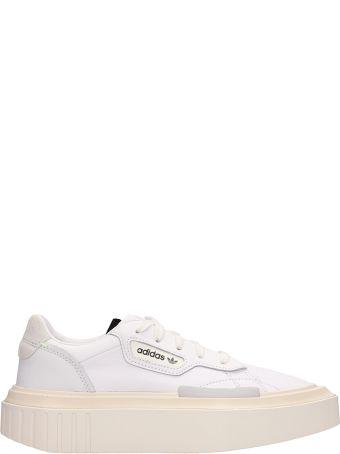 Adidas Hypersleek W White Leather Sneakers