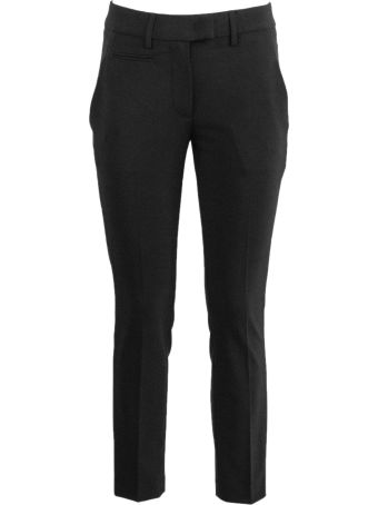 Dondup Black Virgin Wool Blend Trousers