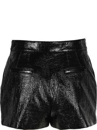 Saint Laurent Faux Leather Shorts