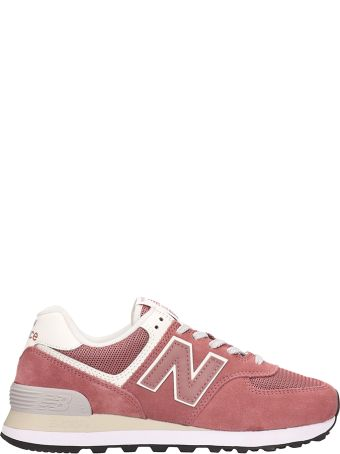 New Balance 574 Pink Suede Sneakers