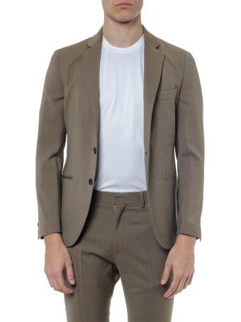 Low Brand Light Brown Single Breast Wool Jacket