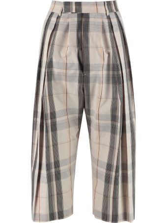 Jucca Printed Cropped Trousers