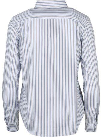 Comme des Garçons Play Black Heart Patch Striped Shirt