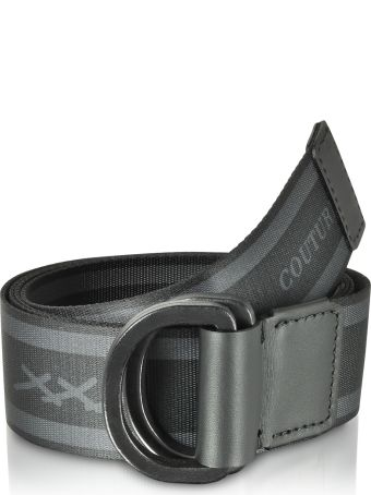 Ermenegildo Zegna Signature Stripe Canvas Men's Belt
