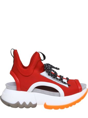Ruco Line Rucoline Sneakers R-bubble 1475 In Stretch Fabric Color Red