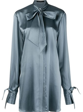Rokh Open-back Silk-twill Shirt