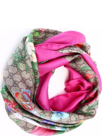 Gucci Foulard Gg Flora Pink