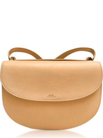 A.P.C. Beige Geneve Leather Crossbody Bag