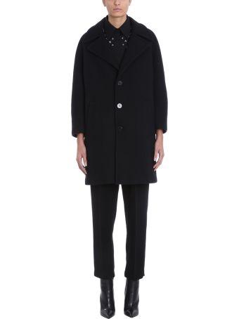 Neil Barrett Black Wool Coat