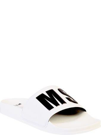 MSGM Branded Slide Sandals