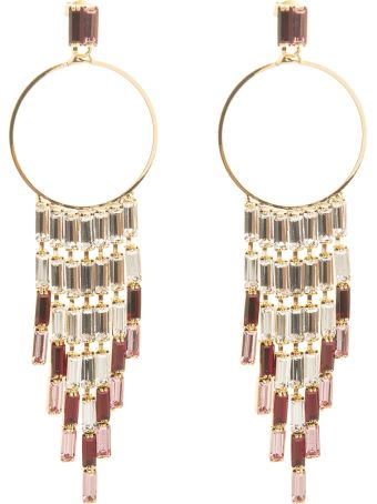Rosantica Circle Earrings With Crystal Pendants