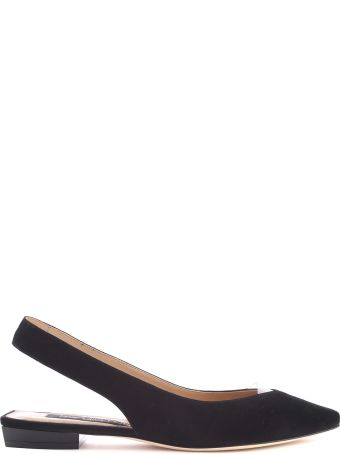 Sergio Rossi Sr1 Pcv And Suede Slingback Ballet Flats