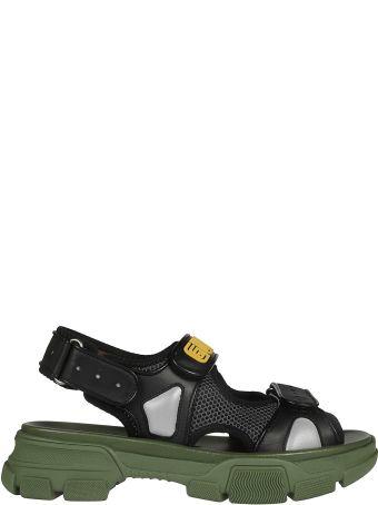 Gucci Mesh Detail Sandals