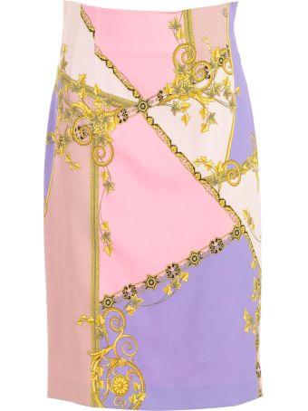 Versace Collection Signature Print Skirt