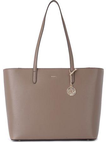 DKNY Bryant Sand Leather Shoulder Bag