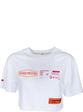 HERON PRESTON Printed Cropped T-shirt