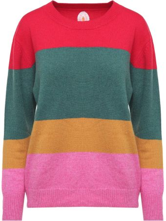Jardin des Orangers Multicoloured-stripe Wool And Cotton-blend Sweater