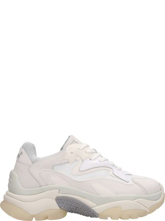Ash Addict Trainers White Leather And Mesh