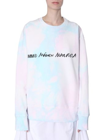 MM6 Maison Margiela Tie-dye Cotton Sweatshirt