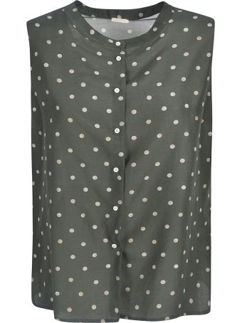 Massimo Alba Polka-dot Sleeveless Lace Shirt