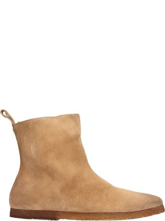 Marsell Ankle Boots In Beige Suede