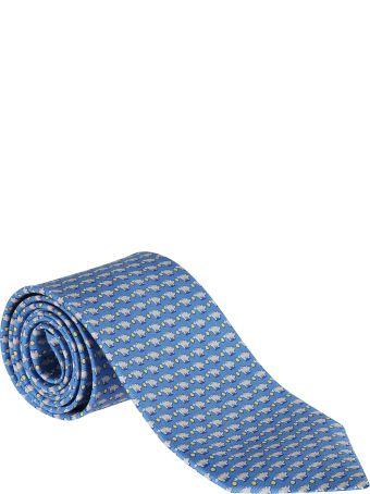Salvatore Ferragamo Pig Printed Tie