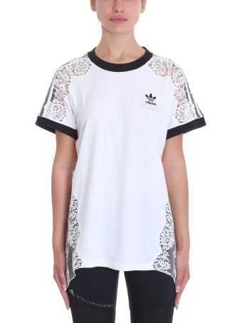 Adidas Originals White Cotton T-shirt