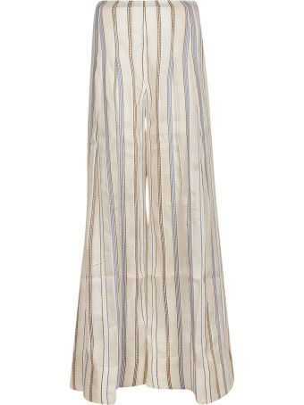 Jacquemus Stripe Embroidered High-waisted Trousers
