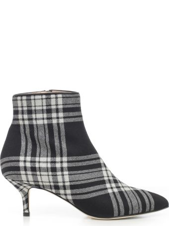 Polly Plume Checked Ankle Boots