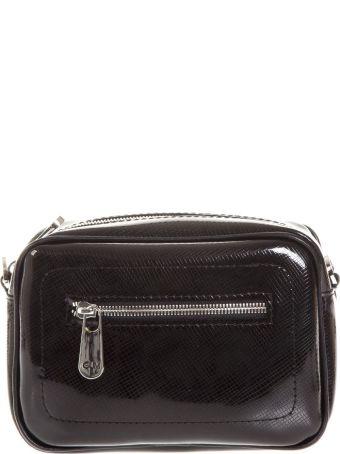 Gianni Chiarini Black Little Bag In Rubber