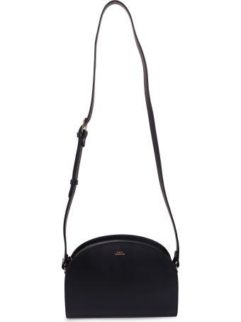A.P.C. Navy Demi Lune Shoulder Bag