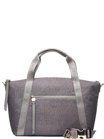 Borbonese Grey Nylon Handle Bag