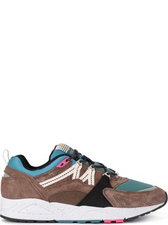 Karhu Fusion 2.0 Brown And Green Suede And Nylon Sneaker