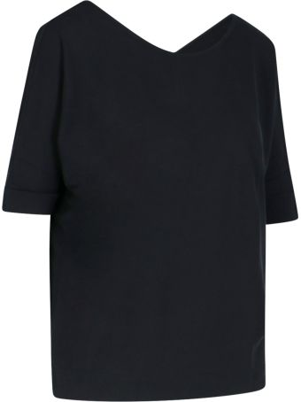 Zanone Rear V-neck T-shirt
