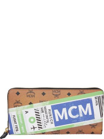 MCM Logo Zip-around Wallet