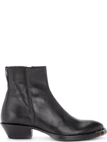 Moma Texan Ankle Boot By Moma Stella Preto Made Of Black Leather