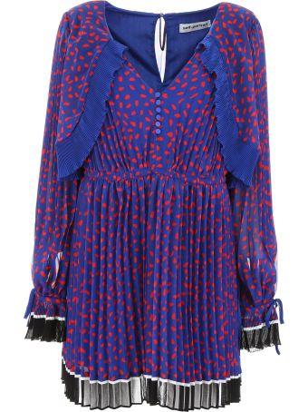 self-portrait Pleated Dress With Polka Dots