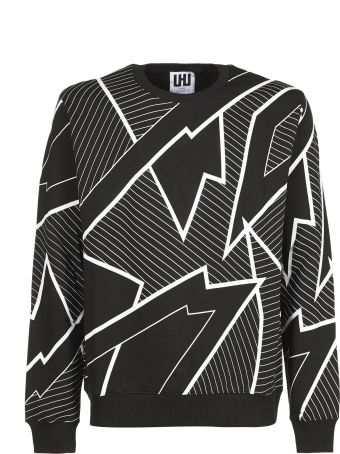 Les Hommes Printed Sweater