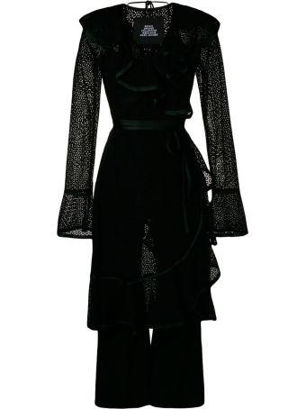 Marc Jacobs Ruffled Cotton-blend Lace Dress W/ Jumpsuit