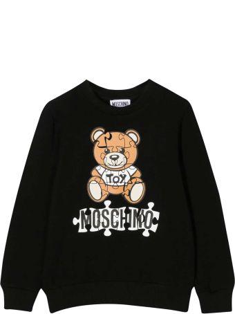 Moschino Black Teen Sweatshirt With Frontal Toy